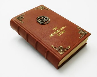 The NeverEnding Story - Michael Ende - Cosplay, Leather Book, Illustrated - RED & GREEN EDITION