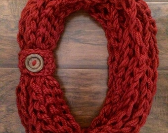 Crochet Burgundy Rope Scarf