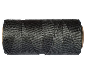 Macrame Cord - 1 spool - Waxed Polyester Thread - Linhasita COR 691- Dark Charcoal