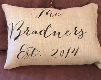 Personalized pillow,  custom pillow, wedding gift, persinalized wedding gift