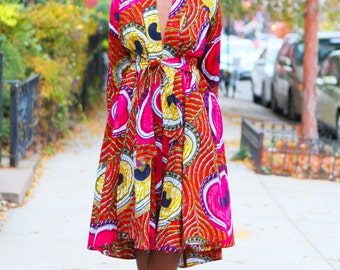High Low Fuchsia Wrap Jacket/Dress