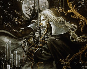 "Castlevania Symphony of the Night, Alucard 24 x 30"" Video Game Poster"