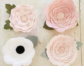 Wallflower || Wallflowers || Felt Wallflower || Felt Flower || Large Flower || Felt Flowers || Nursery Decor || Party Decor || Wall Flower
