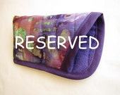 Reserved for V. Purple Glasses Case - Quilted Batik Eye Glasses Case - Purple Batik