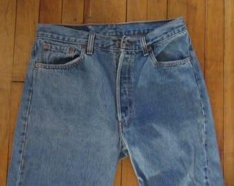 Levi's 501 button fly blue jeans size 34 x 34