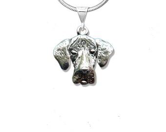 Sterling Silver Natural Great Dane Pendant