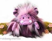 "Yeti plush monster, fantasy creature, purple monster plush, artist bear, collectible toy, kawaii plush, art toy, art doll ""Sugarplum"""