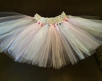 Light pink & gray tutu