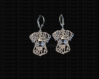 Catahoula Leopard Dog earrings - sterling silver