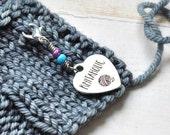 Knitaholic / Knitting Progress Marker  / Removable Stitch Marker / Crochet Stitch Marker / Locking Stitch Marker