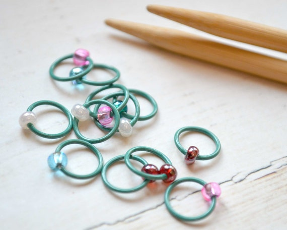 Knitting Stitch Markers / Sweet as Candy / Dangle Free - Snag Free - Colorful Knitting Stitch Markers - Small Medium Large Sizes Available