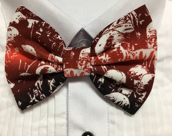 Zombie Faces Red Gradient Print Bowtie / Bow Tie