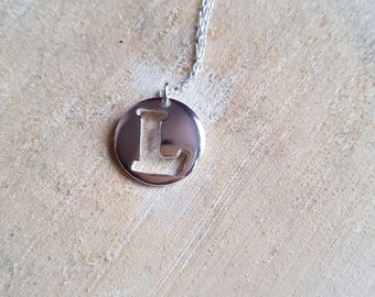 Letter L Necklace Pendant Persoanlised Jewellery Letter L Sterling Silver Initial Jewellery L Pendant Necklace Monogram Jewelry