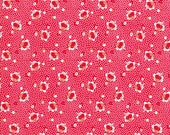 Feedsack Fabric - 30s Fabric - Vintage 30s Fabric - Washington Street - Tiny Red Floral - Tiny Pink Floral