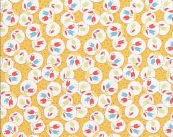 Sale Fabric - Tulip Fabric - Yellow Fabric - Lecien Fabric