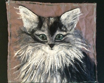 Cat - felted wool