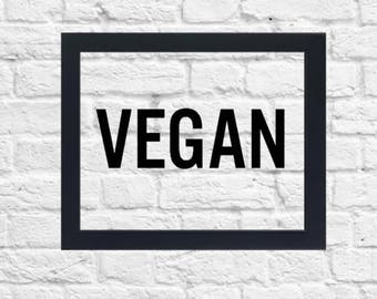 Vegan Print, Floating Frame, 8x10, Vegan