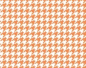 Houndstooth Fabric Basic - Riley Blake, Orange and White - Quilting, Clothing, Craft - Cotton Yardage - Fat Quarter, Half, By The Yard