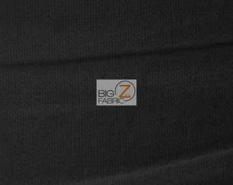 """Solid Flannel Fabric - BLACK - 60"""" Width Sold By The Yard Baby Soft"""