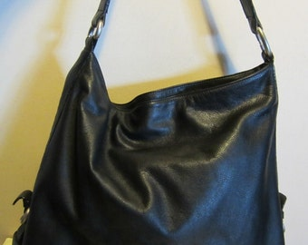 Splendid leather Lupo shoulder bag with card holder; Barcelona; VG condition!!