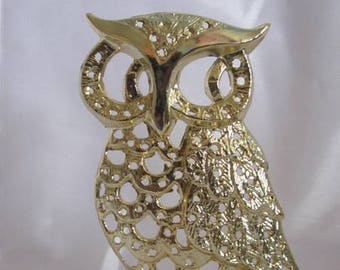 Owl Earring Holder VINTAGE TORINO Metal Tree