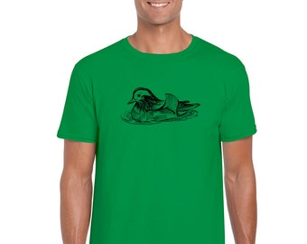 Ducks in water print etsy for Water based t shirt printing
