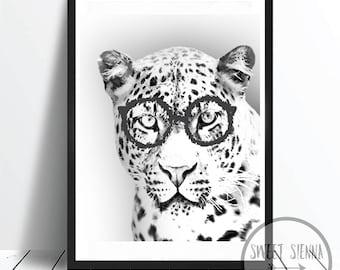 Cheetah Print, Animal Print, Cheetah, animal wall print, wall art, monochrome print, wall decor, children wall art - 8x10'