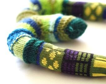 Knitted letter W or M, alphabet, sock letter w or M, initial letter, nursery art, alphabet sock toy