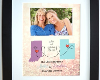 Mothers day Gifts For Mom, Mothers Day Gift Mother Daughter Gift Mother Daughter Map Personalized Mothers Day Gifts For Mom Daughter Custom