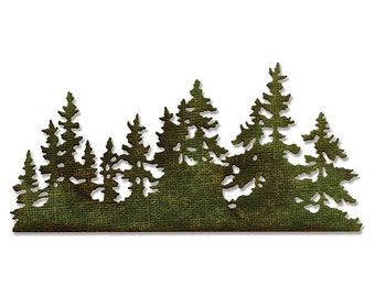 Sizzix - Tim Holtz Alterations - Thinlits Die - Tree Line