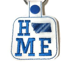Montana is HOME Key Fob Key Chain mom gift dad gift