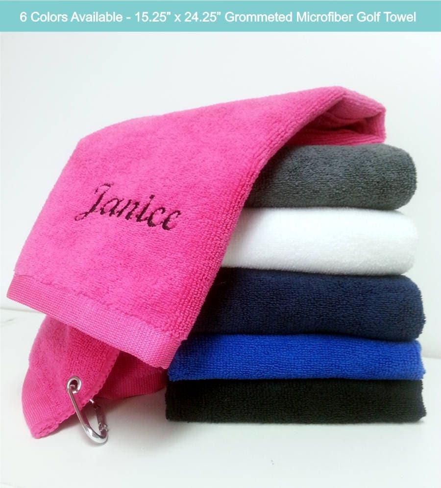 Personalized Golf Towel Monogram Golf Towel Embroidered Golf