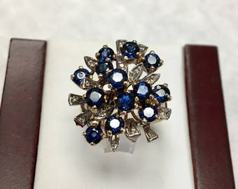 Big & Bold Sapphire Cluster Ring