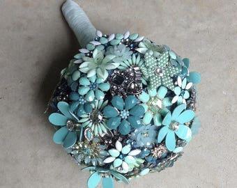 DEPOSIT | Custom Brooch Bouquet | Jewelry Bouquet | Bridal Broach Bouquet | Wedding Bouquet