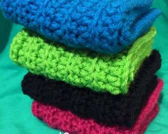 4 Crochet dishcloths or cleaning cloths!