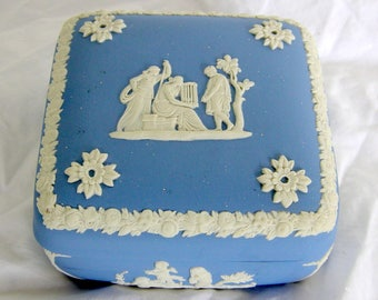 Wedgwood Blue Jasperware Classical Candy Dish