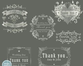 ON SALE INSTANT Download -Wedding  Words Overlays vol.1