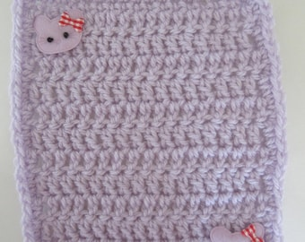 Crocheted Lavender Pastel Mini Blanket for your Dolls/OOAK