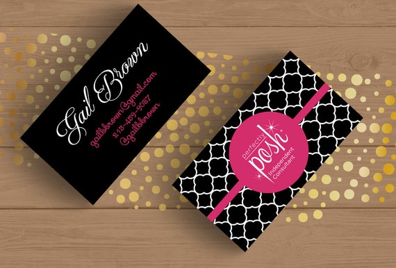 perfectly posh business card template layered psd and editable pdf no 7 black and white boho. Black Bedroom Furniture Sets. Home Design Ideas