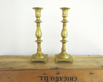 Large Brass Candlesticks