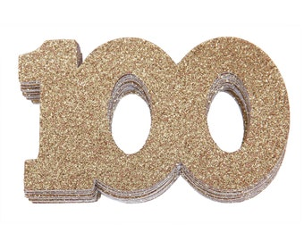 100th Birthday Confetti, 100th Anniversary Confetti, Hundredth Birthday Party Decor, 100th Birthday Decor, 100th Favor, 100th Milestone