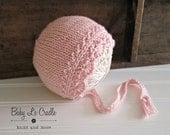 Custom for Alex - Pink Angelina Baby Bonnet - Newborn Girl Bonnet