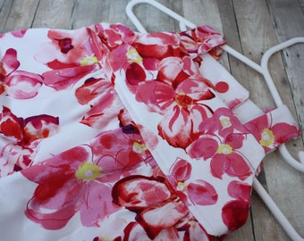 Adorable, Customizable Infant Sundress (0-3 month) - Pink Flowers