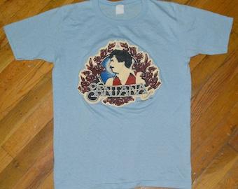 1979-1980 SANTANA vintage concert tour rare original rock t-shirt Medium/Large 70s 1970s Carlos Band