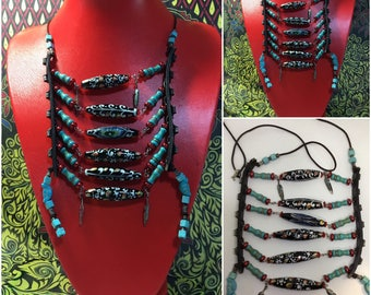 Native American inspired Breast Plate Necklace.