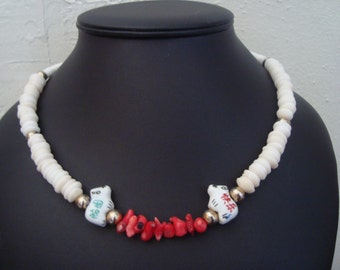 Coral and Shell necklace