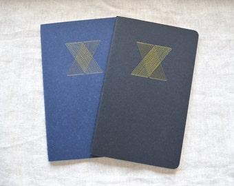 X Notebook - Gold Metallic Embroidery