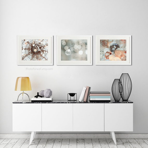 Boho Copper Decor/bathroom Art/set Of 3 Prints/Paris
