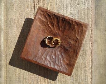 Black walnut wood tray - Wood carving - Wood key tray - Anniversary gift - Ring tray - Rustic decor - Key tray - Ring Bearer - Ring Dish