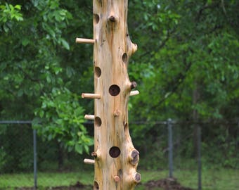 "Cedar log Suet Bird feeder, 35"" long"
